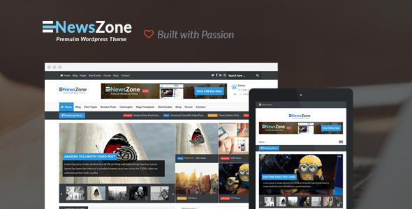 قالب زیبای وردپرس NewsZone v1.8