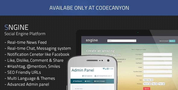 دانلود اسکریپت شبکه اجتماعی Sngine v1.8.3