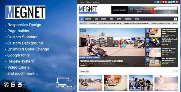 دانلود قالب Megnet v1.2 وردپرس