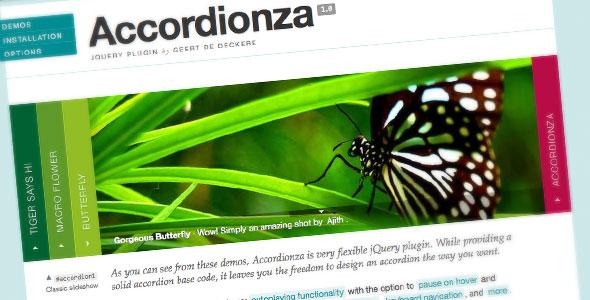 ایجاد اسلایدر های زیبا با جی کوئری Accordionza 1.1