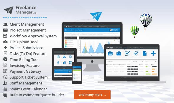 مدیریت مشتری و پروژه با اسکریپت Freelance Manager v2.0.2
