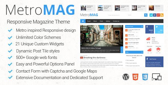 دانلود قالب زیبای وردپرس Metro Magazine v2.5