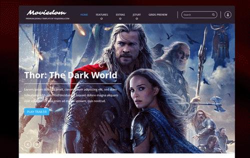 دانلود قالب YJ Moviedom برای جوملا 2.5 راستچین شده