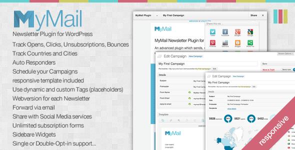افزونه MyMail v1.6.6 ایمیل خبرنامه وردپرس