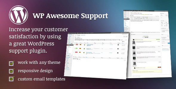 افزونه تیکت و پشتیبانی وردپرس WP Awesome Support v.2.0.7