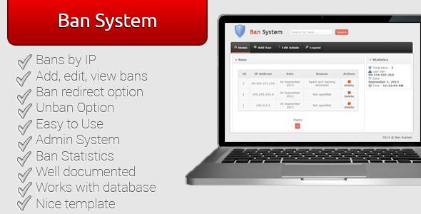 اسکریپت بستن آی پی Ban System v1.2