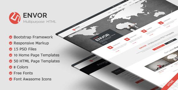 دانلود Envor قالب کاربردی html