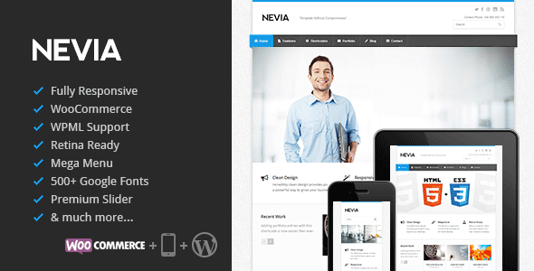 دانلود قالب Nevia v1.3.3 وردپرس راستچین شده