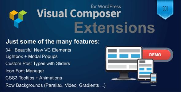 دانلود مجموعه ابزار های وردپرس Visual Composer Extensions v2.2.2
