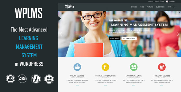 دانلود قالب وردپرس WPLMS v1.5.2 سیستم مدیریت آموزش