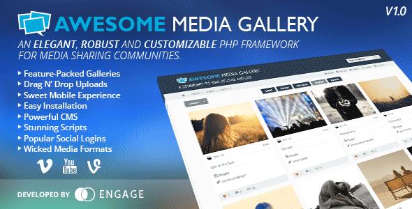 ایجاد سایت گالری عکس و فیلم با اسکریپت Awesome Media Gallery