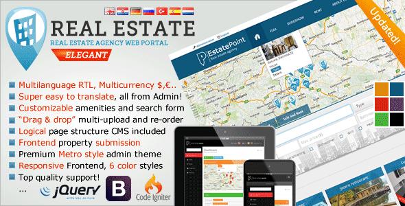 اسکریپت آژانس املاک با امکانات فوقالعاده Real Estate Agency Portal
