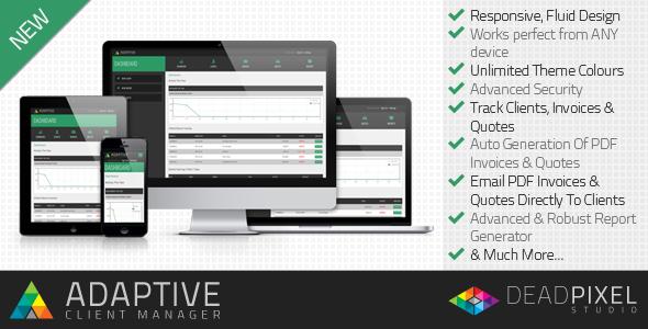 اسکریپت پیشرفته مدیریت صورت حساب Adaptive Client Manager v1.2