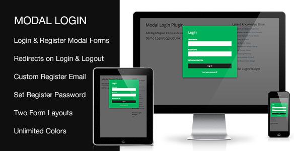 افزونه ایجاد فرم ورود و عضویت در وردپرس Modal Login