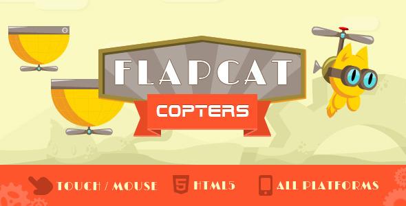 دانلود اسکریپت بازی آنلاین جالب FlapCat Copters