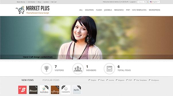 دانلود اسکریپت زیبای فروشگاه قالب و اسکریپت Marketplus