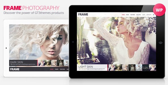 دانلود قالب تمام صفحه گالری عکس وردپرس Frame v1.8.1