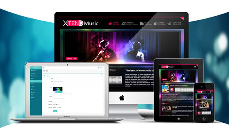 اسکریپت ایجاد وب سایت خوانندگان موسیقی XTEND