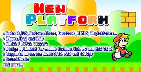 دانلود اسکریپت قارچ خور یا سوپرماریو به صورت HTML5 و اندروید
