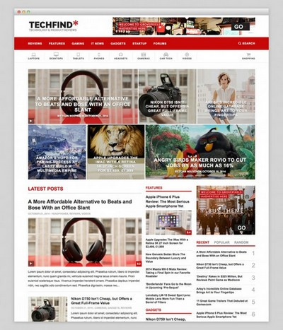 دانلود پوسته حرفه ای مجله خبری techfind برای وردپرس