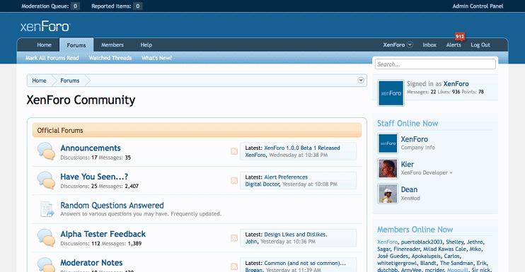 دانلود اسکریپت انجمن ساز زنفورو XenForo v1.4.2  همراه با فارسی ساز