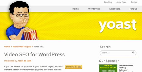 دانلود افزونه حرفه ای Yoast Video SEO وردپرس