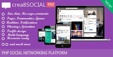 دانلود اسکریپت شبکه اجتماعی crea8social نسخه ۲