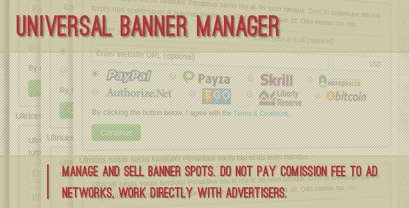 دریافت اسکریپت  Universal Banner Manager مدیریت تبلیغات بنری