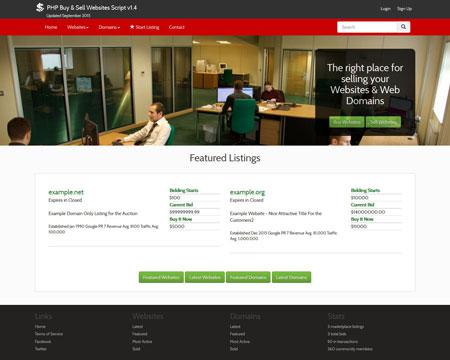 Website and Domains Marketplace اسکریپت رایگان ایجاد سایت فروش دامنه و  سایت ورژن 1.4
