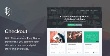 قالب رایگان وردپرس ست شده با Easy Digital Downloads