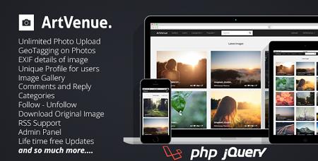 یک سایت اشتراک تصاویر با اسکریپت ArtVenue