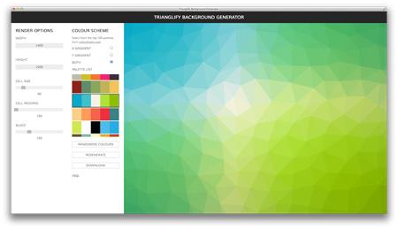 ابزار آنلاین برای ایجاد تصاویر Trianglify