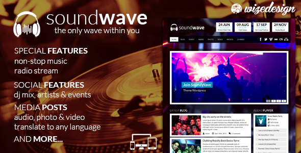 SoundWave v2.2 - The Music Vibe WordPress Theme