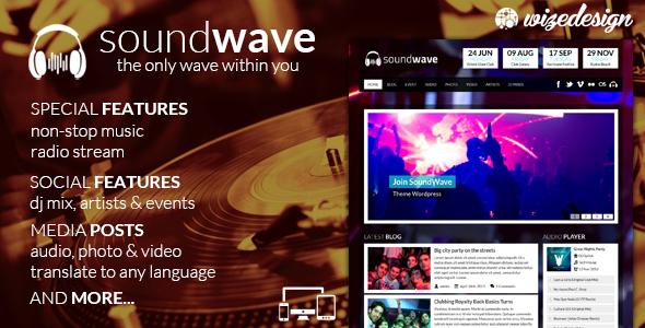 SoundWave v2.2 - The Music Vibe WordPress Theme