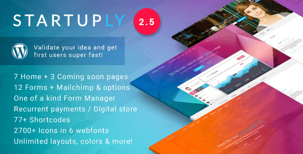 دانلود Startuply v2.5.2 – Multi-Purpose Startup Theme