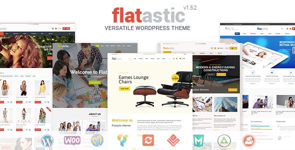 دانلود قالب وردپرس Flatastic v1.5.2 – Themeforest Versatile WordPress Theme