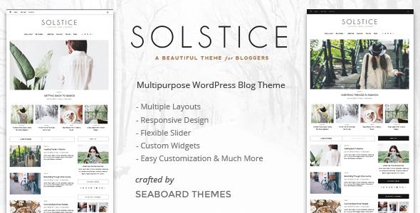 Solstice v1.0 - Multipurpose WordPress Blog and Magazine Theme