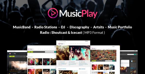 MusicPlay v4.4.0 - Music & DJ Responsive WordPress Theme