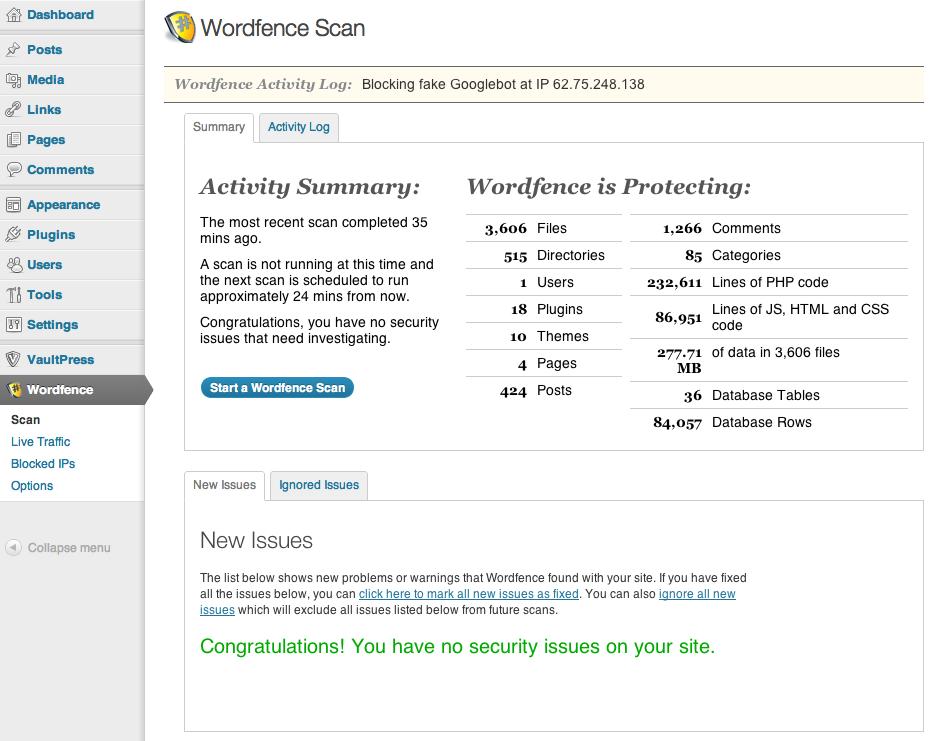 افزونه امنیتی وردپرس Wordfence Security Premium v6.1.8