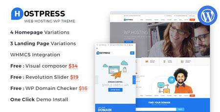 دانلود قالب وردپرسی HostingPress برای هاستینگ