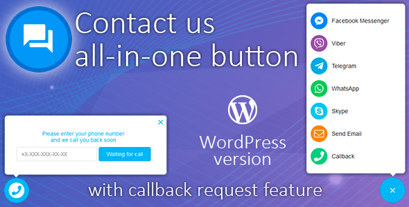 Contact us all-in-one button with callback v1.3.6