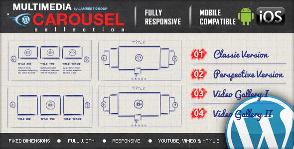 دانلود افزونه Multimedia Responsive Carousel v1.3.2
