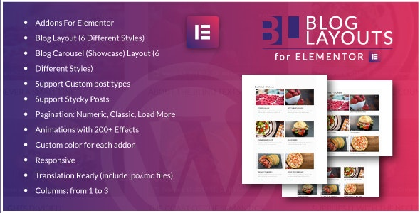 دانلود افزونه Blog Layouts for Elementor v1.0 – WordPress Plugin