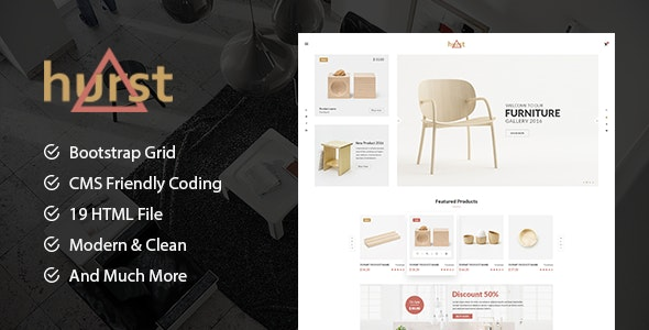 Hurst - Furniture Store eCommerce HTML Template