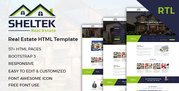 Sheltek - Real Estate HTML Template + RTL