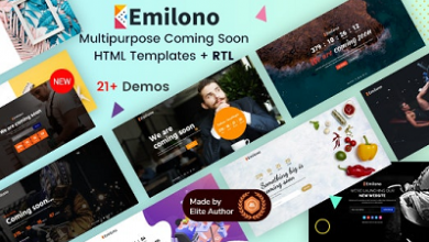 Emilono Coming Soon HTML Template