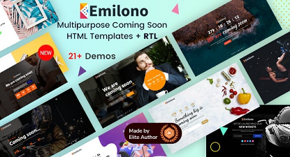 Emilono Coming Soon HTML Template