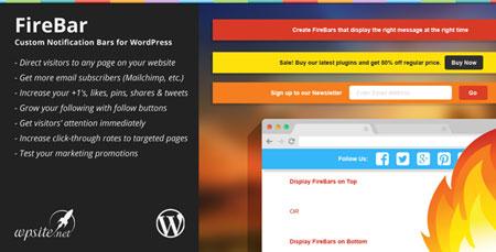 افزونه وردپرس ایجاد نوار اطلاع رسانی در بالای وب سایت FireBar