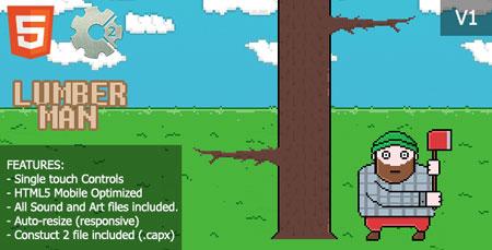 اسکریپت بازی آنلاین HTML و اندروید مرد الوار فروش LumberMan نسخه ۱.۰