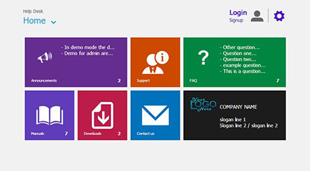 اسکریپت پشتیبانی مشتری و تیکت Metro Help Desk نسخه ۲۰۱۵.۱